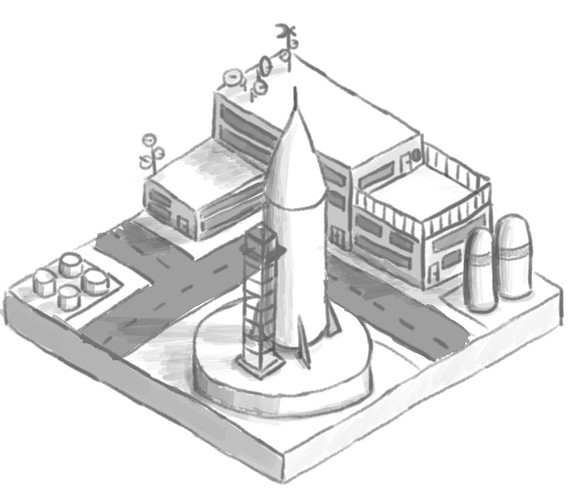 isometric diorama