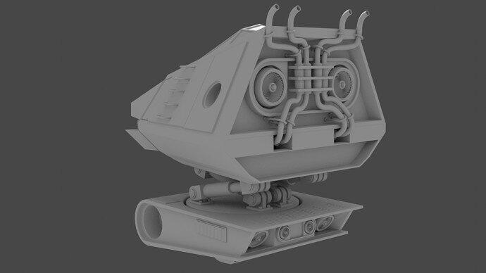 Mech Cockpit & Body Rear