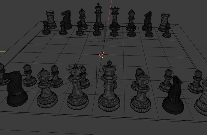 Chess Set - Subdivision Level 3 - 01