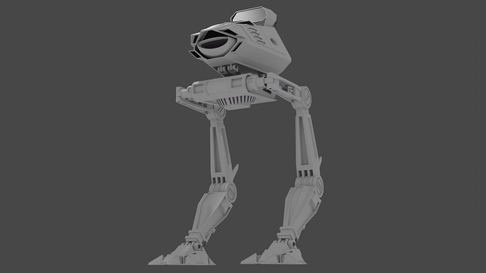 Mech With Legs Low Angle