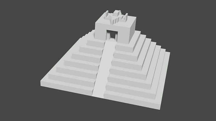 temple with ramp
