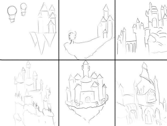 castles sketches