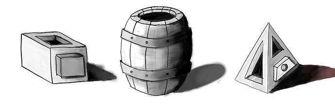 simple 3d objects