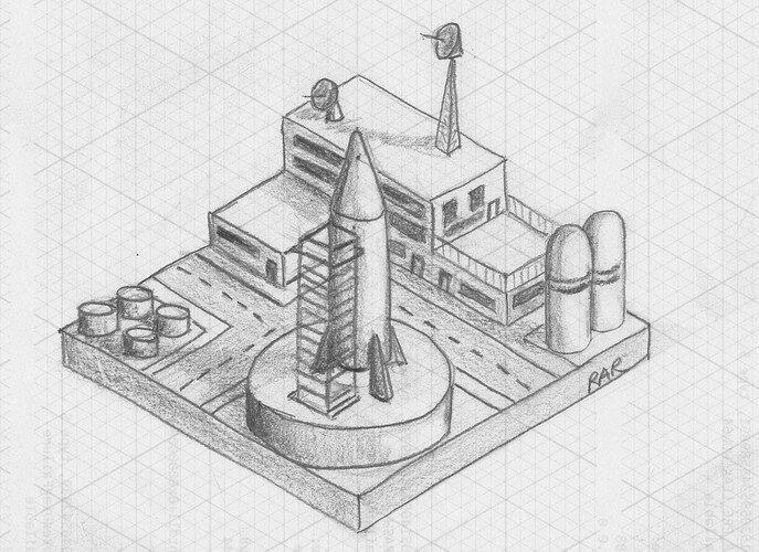 Iso Diarama of SpacePort