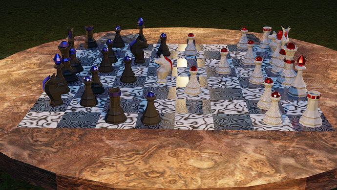 chess scene render 03