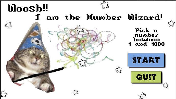 NumberWizard UI Start