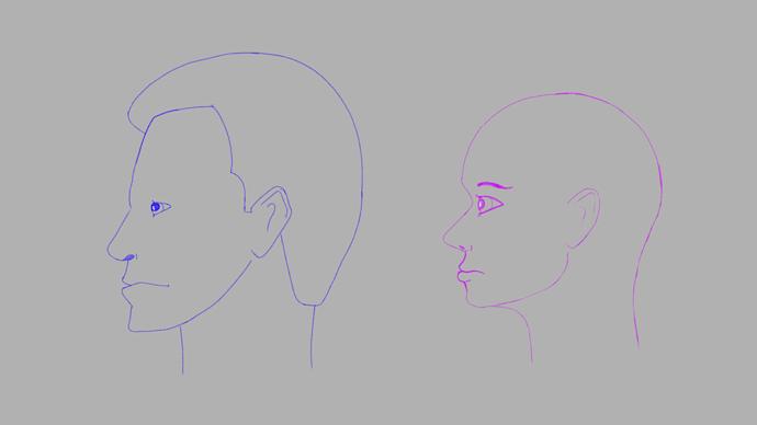 fem side face