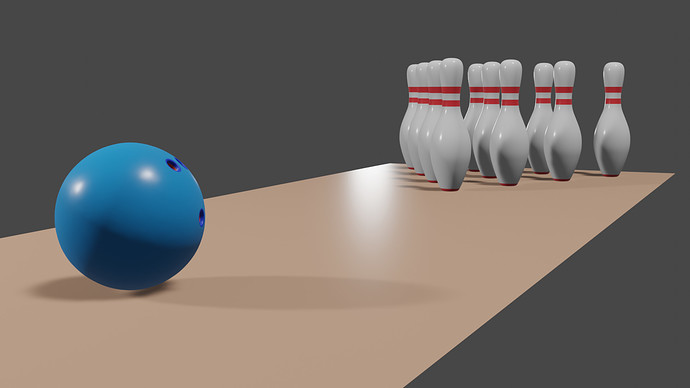 Bowling simple scene