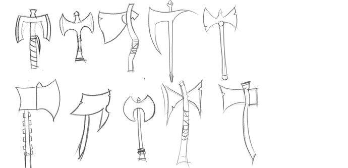 sketches axes