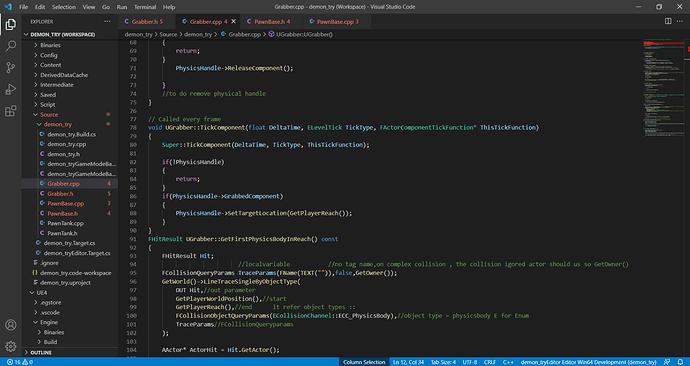 Grabber.cpp - demon_try (Workspace) - Visual Studio Code 22_09_2021 10_27_08