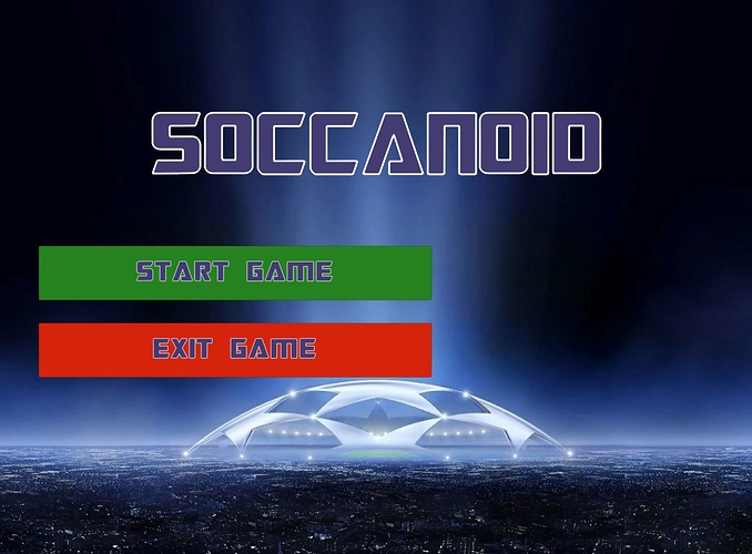 Soccanoid menu screenshot