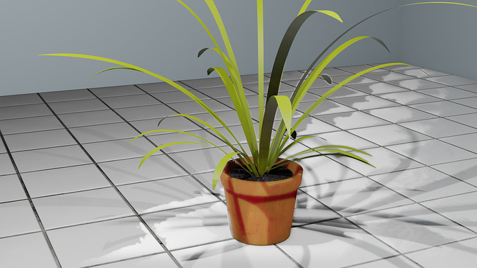 PLANT WIITH EEVEE Subsurface scattering011