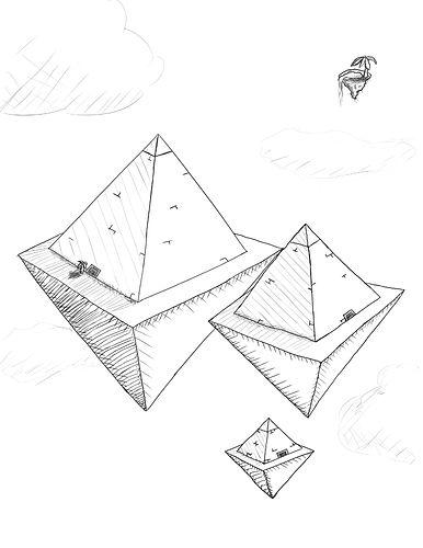 Pyramids in the sky