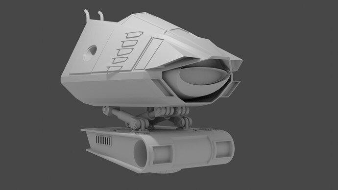 Mech Cockpit & Body Front