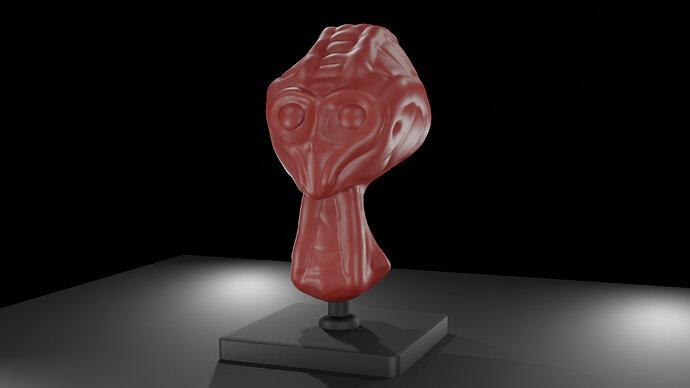 Alien head practice sculpt