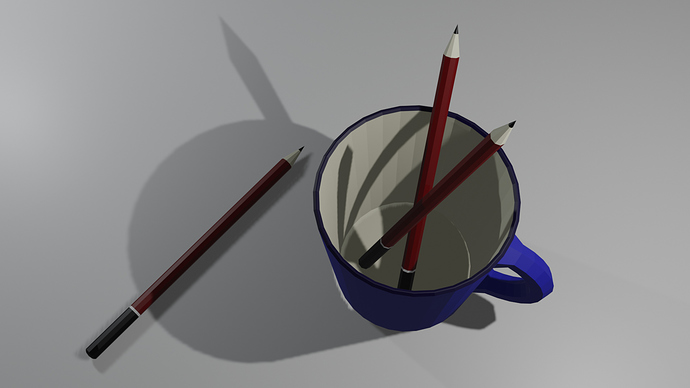 Cup and Pencils top view
