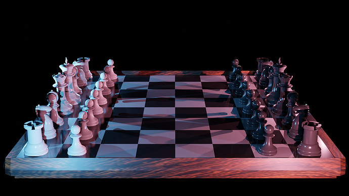 Chess Scene with border