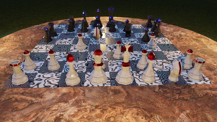 chess scene render 01