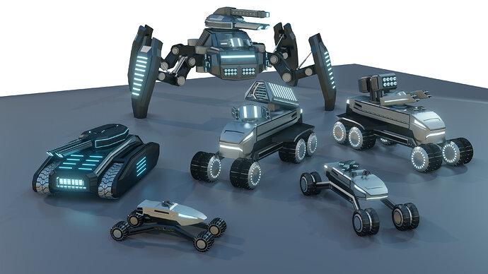 Modular Sci-Fi Vehicles