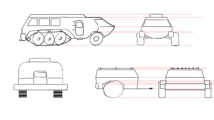 martian vehicle and trailer