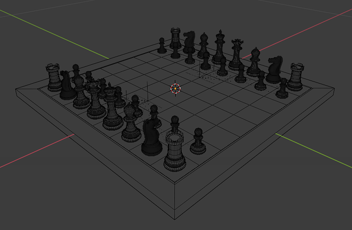 Chess Set - Subdivision Level 3