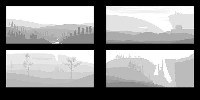 6 tone landscapes