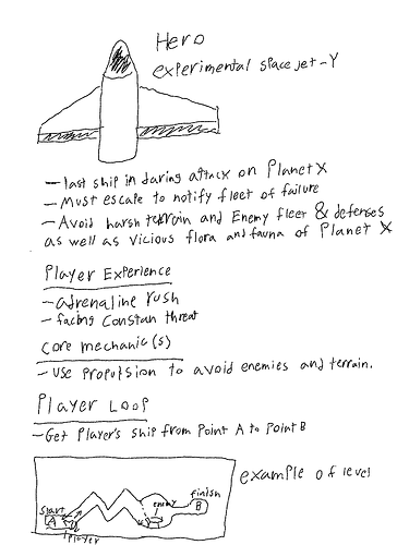Escape from planet XGame design document - page 1