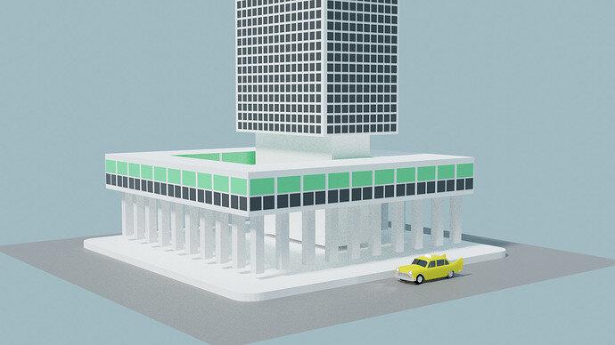 taxi building