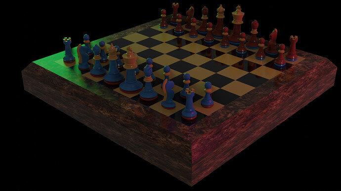 Chess near view