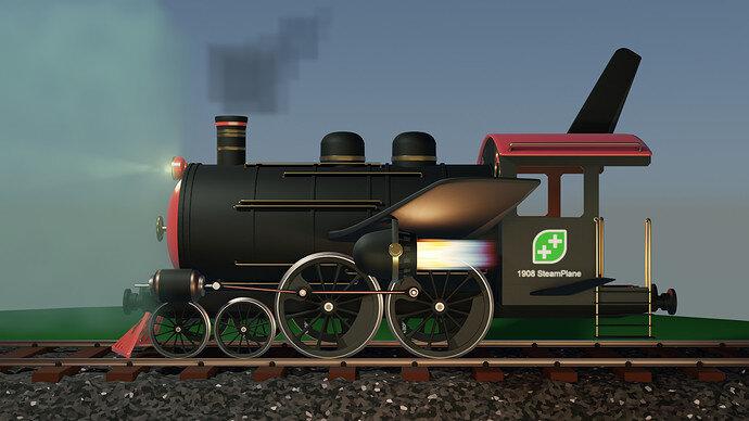 Steam-air-plane-train - 12