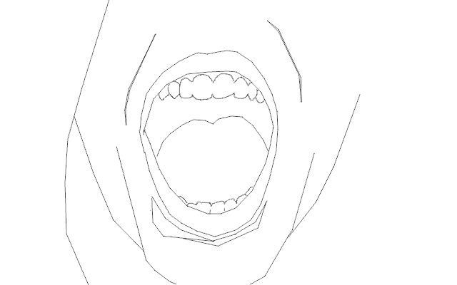 mouth open lines