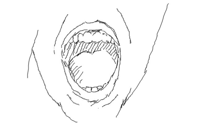 mouth open sketch