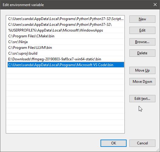 2019-09-11 09_00_17-Edit environment variable