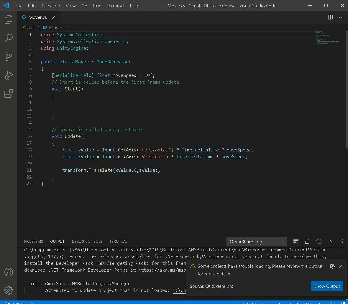 Visual Studio Code problem